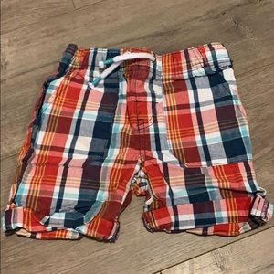 Car & jack 2t red and blue plaid shorts